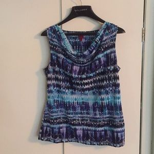 Size medium blue sleeveless top